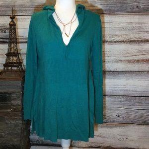New York & Company Hooded Sweater Dress